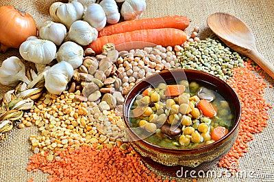 Legume soup