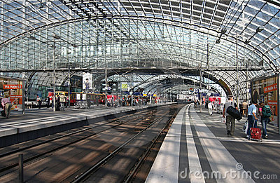 Lehrter Railway Station in Berlin Editorial Photo