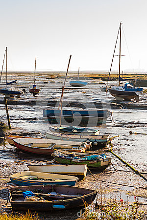 Leigh boats at low tide