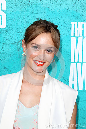 Leighton Meester arriving at the 2012 MTV Movie Awards Editorial Image