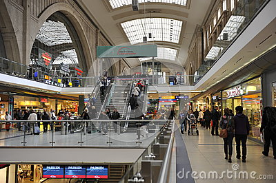 Leipzig Central Station, Germany Editorial Photo