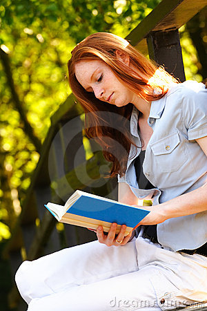 Leisure Reading in a Park