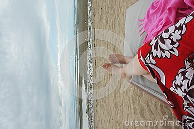 Leisure time on the beach