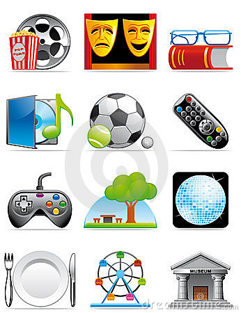 Free Leisure Time Icons Stock Images - 11513014