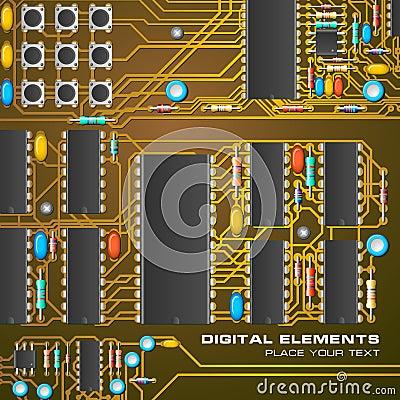 Leiterplatte mit Mikrochips