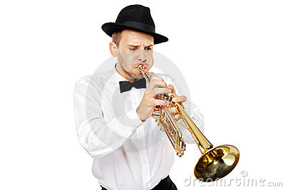 Leka trumpetbarn för man