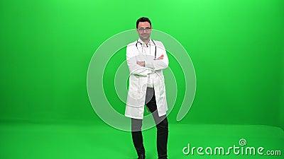 Lekarka na zieleń ekranie zbiory wideo