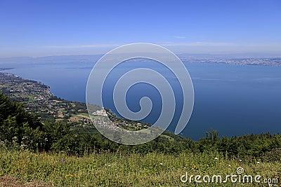 The Leman lake, Evian, France