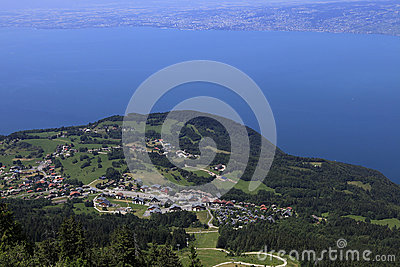 The Leman lake, Evian, France