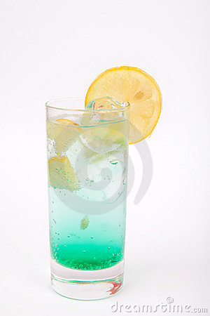 Lemon Alcohol Drink with Ice