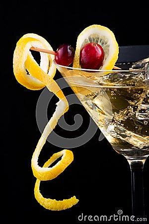 Free Lemon And Cranberry Splash Coc Stock Photography - 2444422