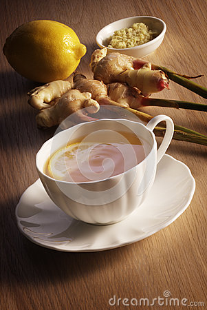 Free Lemon And Ginger Tea Stock Images - 53939074