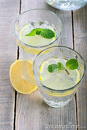 Free Lemon And Mint Fizz Stock Photography - 37186002