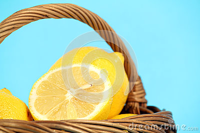 Lemon in basket