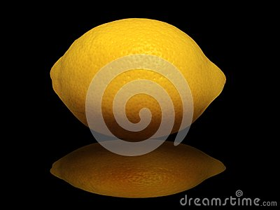 Lemon on a black background