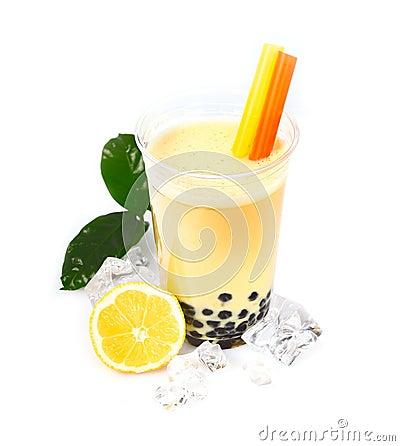 Free Lemon Boba Bubble Tea Stock Photos - 25401563