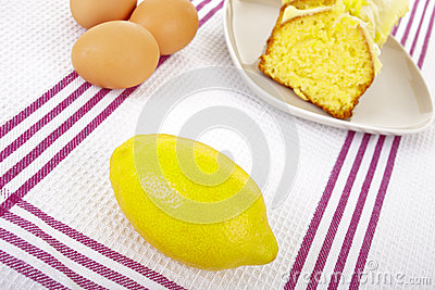 Lemon and cake