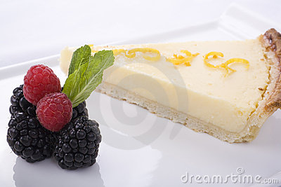 Lemon Cake and Fruit