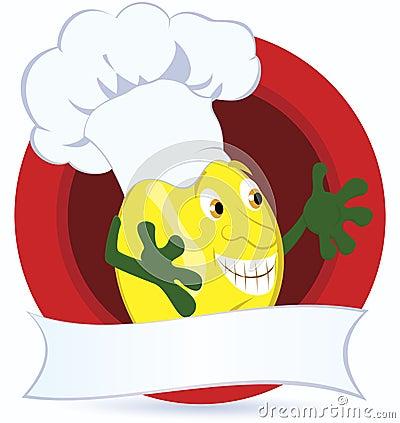 Lemon-cartoon-character-with-promo-ribbon