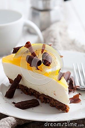 Free Lemon Cheesecake Stock Photos - 34759443