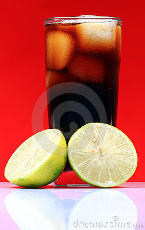 Lemon and cola drink