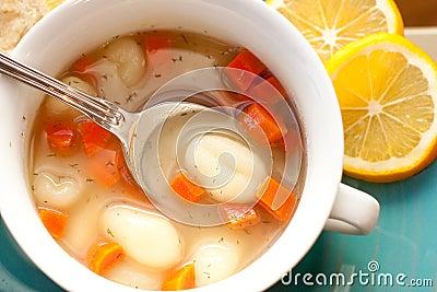 Lemon & dill gnocchi soup