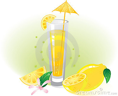 Lemon fruit and drink