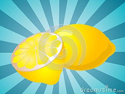 Lemon fruit  illustration