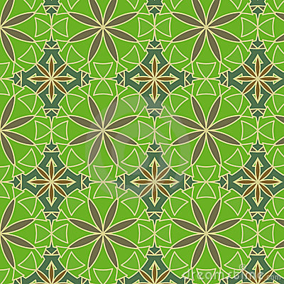 Lemon Green Vector Seamless Pattern