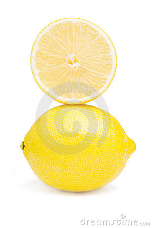 Lemon and half