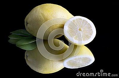Lemon and half black