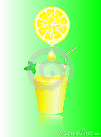 Lemon juice and mint.
