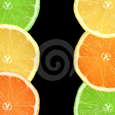 Free Lemon, Lime And Orange Slices Stock Images - 6826114