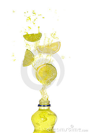 Lemon lime drink splash