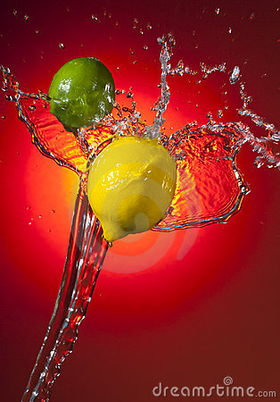 Lemon Lime Splash Stock Photos - Image: 20594883