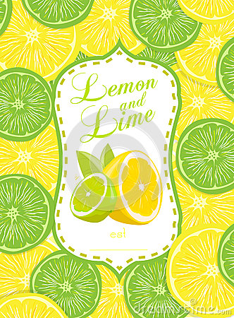 Lemon and Lime Vector Illustration