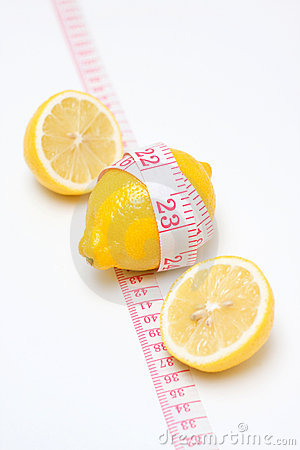 Lemon and measuring tape
