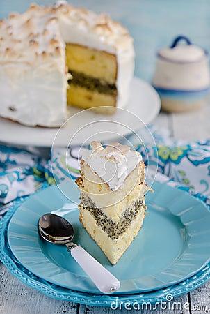 Free Lemon Meringue Cake Royalty Free Stock Photo - 42270795