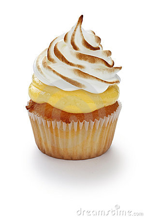 Free Lemon Meringue Cupcake Royalty Free Stock Images - 17323269