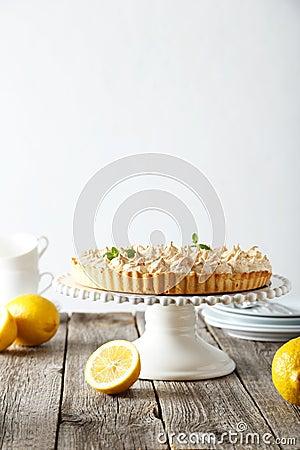 Free Lemon Meringue Pie Stock Photography - 54363432