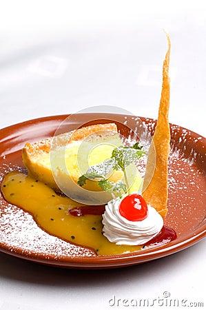 Lemon pie slice