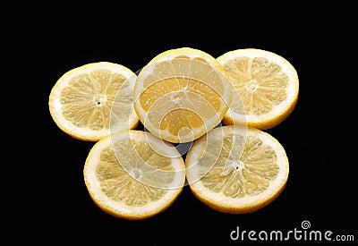 Lemon and piece of lemon