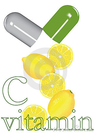 Lemon and pill