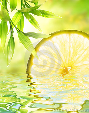 Free Lemon Reflected In Water Stock Photography - 7233592