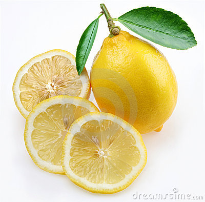 Lemon with section