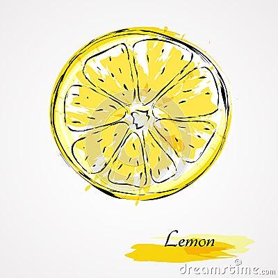 Free Lemon Slice Royalty Free Stock Photos - 44641758