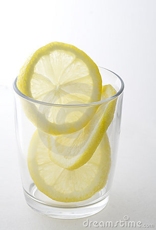 Lemon Slices in Glass