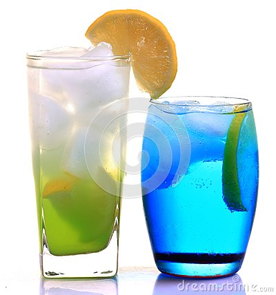Lemon slush and iceberg drink