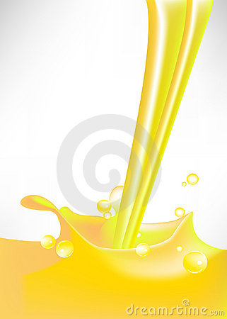 Lemon splash with bubbles