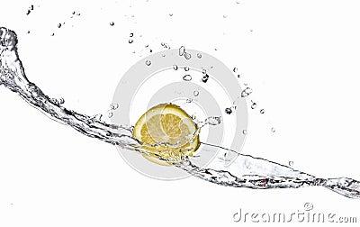 Lemon and Splashing water